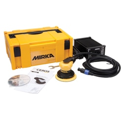 Available from Woodworker's Hardware, the quiet and powerful Mirka Ceros electrical orbital sander features and excellent power-to-weight ration and a low profile design for enhanced control. The 7 variable speeds range from 4,000 to 10,000 OPM. Visit www.hardware.com.