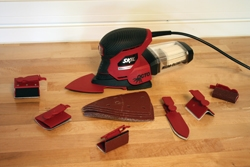 The Skil Octo sander features eight accessories for a variety of detail sanding applications.