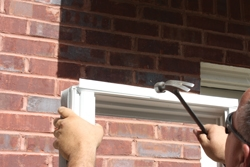Accessory pieces such as vinyl sill extenders should be attached before installing the window.