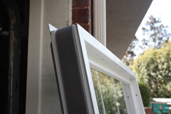 The Simonton Windows arrive with weather stripping around the perimeter of the units. This helps the window to fit snugly, and adjustments to plumb, level and square can be made with wood shims.