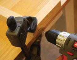 Predrill holes for the fasteners.