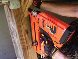 Paslode's CF325 Li Li-ion cordless Framing Nailer drives up to 6,000 nails per charge without the hassle of an air hose or compressor .