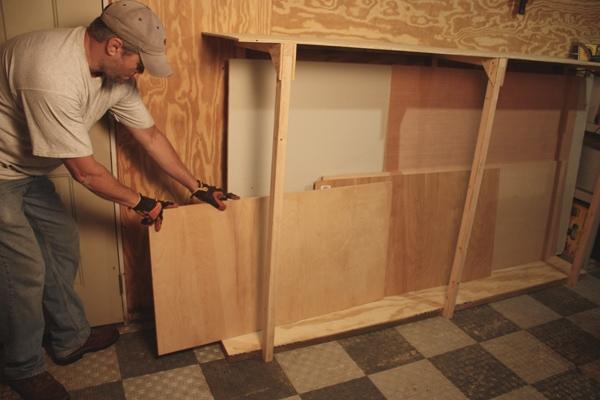 Plywood Storage Rack