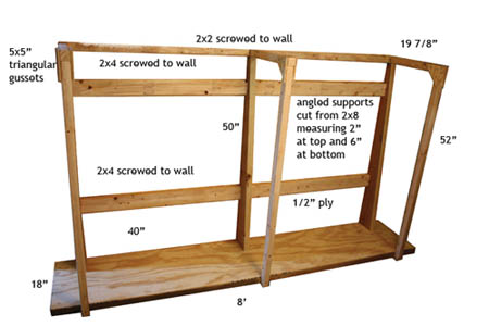Plywood Storage Rack