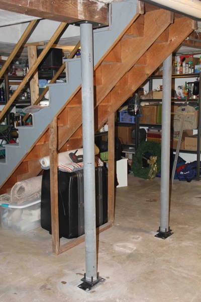 Beautiful Basement Lally Column