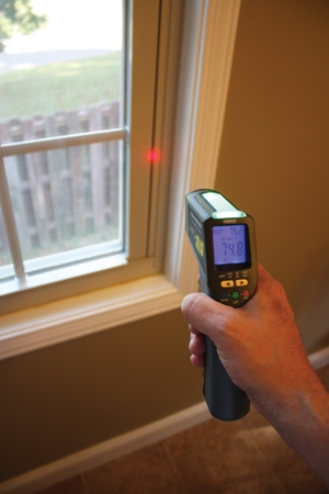 The IRTC50 infrared thermometer from General Tools & Instruments provides remote temperature measurement with the pull of a trigger. It's an easy way to locate hidden hot and cold spots when performing an inspection. With its Star Burst laser targeting system, the IRTC50 enables the user to approximate the size of the measured spot for a quick and accurate reading.