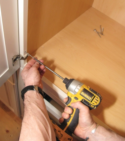 If you're careful you can set hardware screws with a power driver.