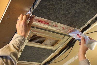 Use foil tape for an air-tight seal around duct work.