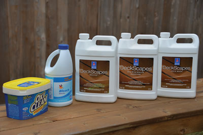 Deck cleaners and restorers generally fall into one of three categories—chlorine bleaches, oxygen bleaches, or oxalic acid-based formulas.
