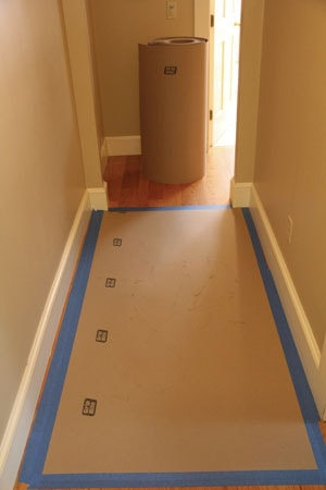 Not only is bathroom remodeling a messy job, but demolition debris that is tracked through the house can damage finished surfaces. Plan in advance to manage dust and debris. Contractor paper taped along the edges can protect hardwood floors.