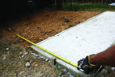 After the concrete fully cures, it's ready for use as a walkway or footing.