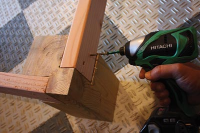 Fasten the bed rails with glue and at least two offset screws through each end.