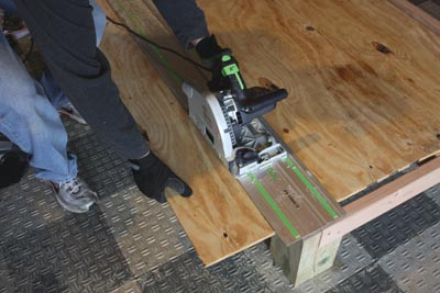 The bed frame served as a makeshift work table for the rest of the project.