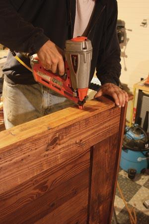 The final top trim piece created a narrow mantle-like shelf a top the headboard.