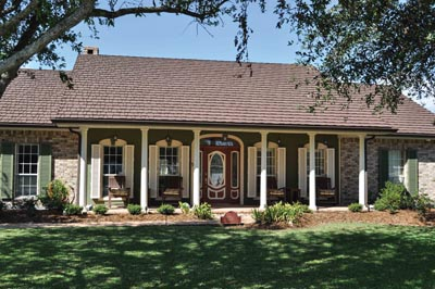 """Today's metal roofs are available in many tiles and patterns, such as """"country manor shake"""", and are installed utilizing a concealed-fastener systems. Photos courtesy Classic Metal Roofing Systems."""