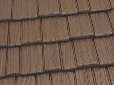 Metal roofs are available in a wide array of colors, from bright red and forest green to solid copper and aged bronze (shown).