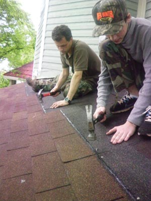 Re-shingling an existing roof is the easiest method of installation for a DIY homeowner.