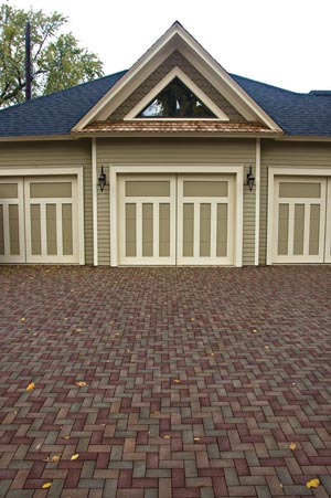 Shown is a classic herringbone pattern from Pine Hall Brick Co.