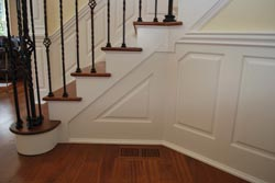 Wainscoting clipped corner