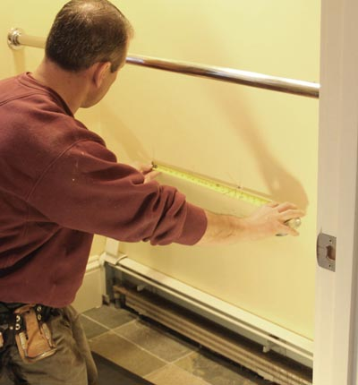 Carefully lay out the pet door location square to the floor.