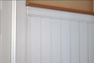 Beadboard wainscoting consists of tongue-and-groove boards that interlock to create vertical lines. (Photo courtesy American Beadboard)