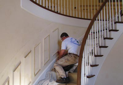 Wainscoting tips from a pro extreme how to - Wallpapering around a curved corner ...