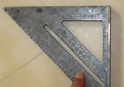 Many of the sharp angles on this project were acute angles that weren't possible to cut on a regular miter saw.