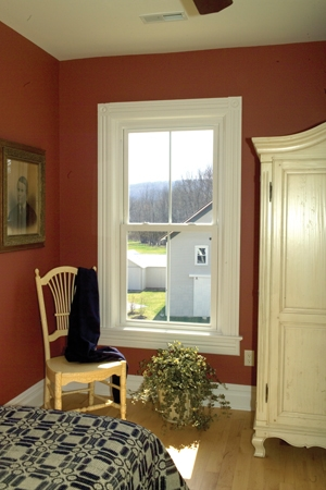 New vinyl windows constructed with double-paned, Low-E glass can save energy and reduce the home's power bill.