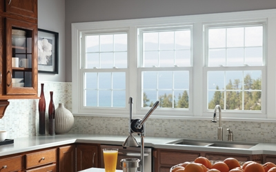Double hung windows allow you to keep the bottom sash closed and open the top sash for ventilation in the home. (Photos courtesy Simonton Windows)