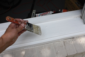 All repairs should be caulked, primed and painted to match the existing casing.