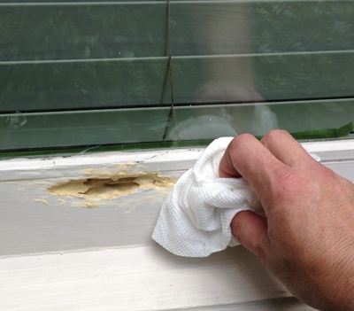 "Apply the Putty in ¼"" coats, allowing the product to dry between applications"
