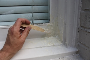 The PL FIX product can be cut and shaped to match existing wood profiles.