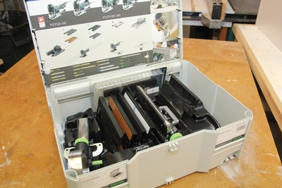 Festool pioneered the Systainer line of modular cases years ago as a storage solution for the company's professional-grade woodworking tools.