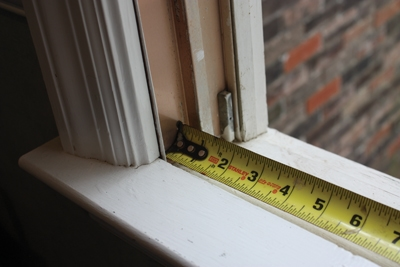 Measure the width of wood windows from jamb to jamb (not the parting bead or stop molding of double-hung windows). Depending on the make of your window, it may help to remove the interior trim to see the rough opening.