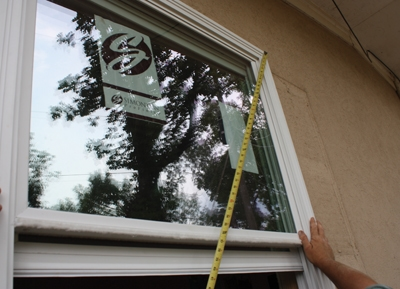 The window must be installed plumb, level and square even if the rough opening is none of these things. For this reason, most pros deduct slightly from the window measurement before ordering to ensure the window fits easily.