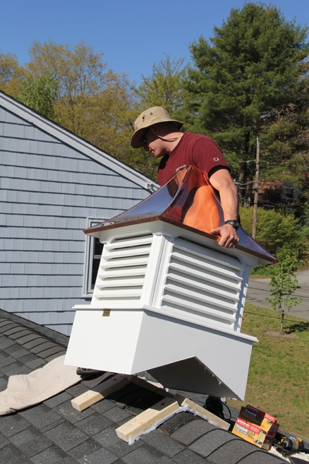 Installing a cupola extreme how to for Cupola on house