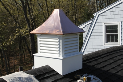 Bring the cupola to the roof and test the fit.