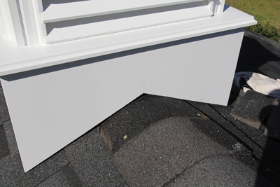 Use the ridge shingles that you removed, if in good condition, to make any necessary patches or to cover any roofing you removed.