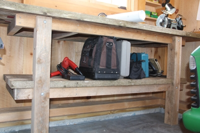 It is critical that a workbench sits level, which means the legs may need to be cut at different heights if the floor isn't level.