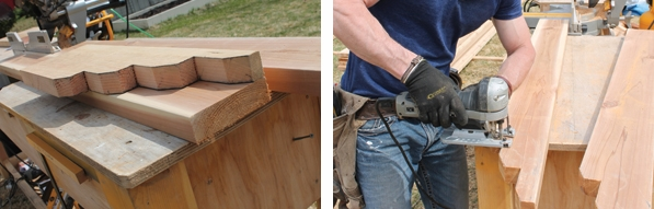 Use a pattern to map out the look of your rafter tail, then trace it onto all your other material ton increase accuracy. The rafter details can give your pergola a custom look.