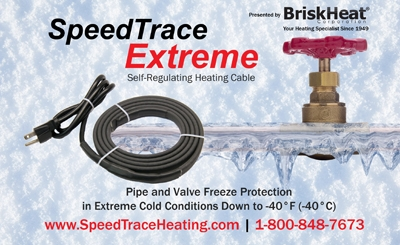 Speedtrace extreme self regulating heating cable extreme for Pex pipe freeze protection