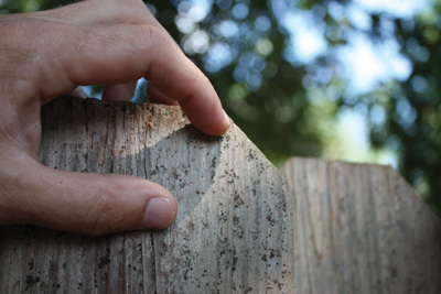 Outdoor wood accumulates all sorts of dirt and grime, so the surface must be thoroughly cleaned before staining and sealing.