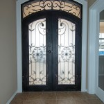 Arched Wrought Iron Entry Doors