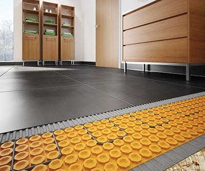 DITRA-HEAT finished floor cutaway