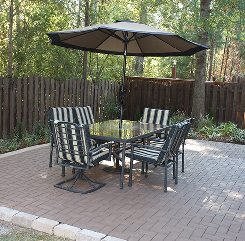 build a patio with composite pavers extreme how to. Black Bedroom Furniture Sets. Home Design Ideas
