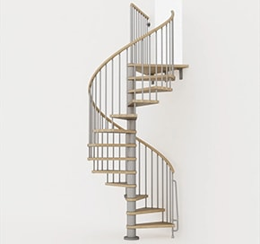 Arke offers staircase kits in three different colors.