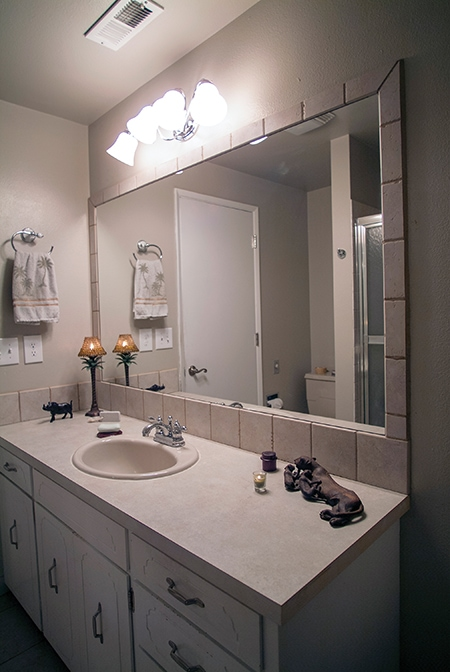 Install A Tile Backsplash With A Matching Mirror Frame Extreme How To
