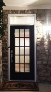 Entry Door And Transom Window