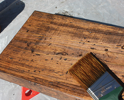 I used a combination of cherry and dark walnut to get the color tone I wanted.