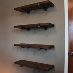 Pipe-Bracket Shelving